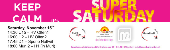 15. November: Super Saturday @ Zanzibar ab 21:30